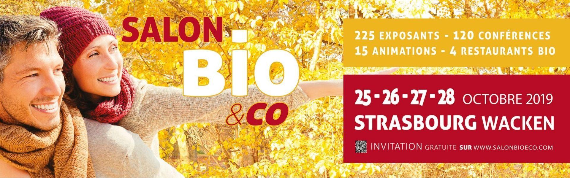 Bannière Salon Bio & Co à Strasbourg en Octobre 2019 sur les médecines douces et la phytothérapie